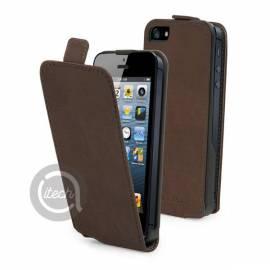 Etuit à clapet iPhone 5/5S/SE marron
