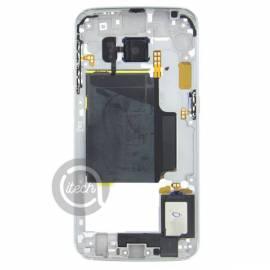 Châssis intermédiaire Blanc Galaxy S6 Edge