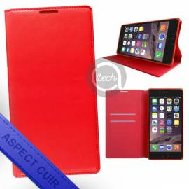 Folio Aimanté Rouge Wiko Rainbow Up