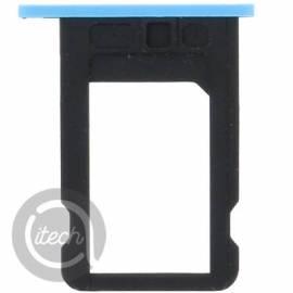 Tiroir carte sim bleu iPhone 5C