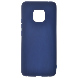 Coque soft touch Bleue Mate 20 Pro