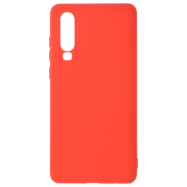 Coque soft touch Rouge P30
