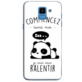 "Coque ""panda"" Galaxy J6"