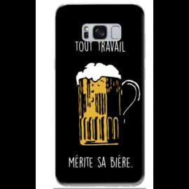 "Coque ""bière"" Galaxy S8"