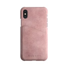 Coque suédine Rose iPhone X/XS
