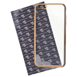 Coque silicone Transparente et Or iPhone 6 Plus/6S Plus