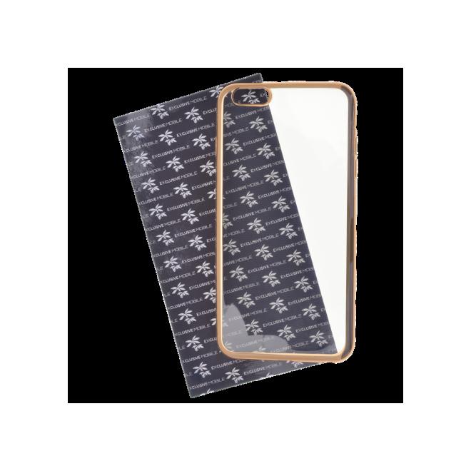Coque silicone Transparente et Or iPhone 6 Plus/6S Plus
