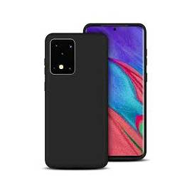 Coque soft touch noire S20 Ultra