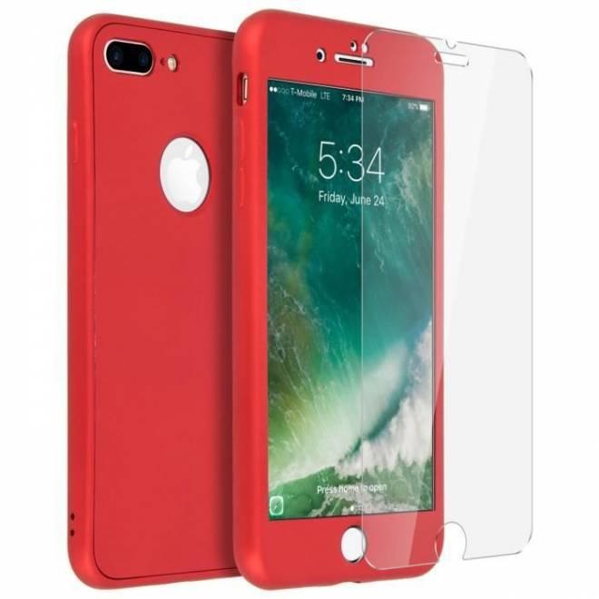 Coque 3 en 1 Rouge iPhone 7/8