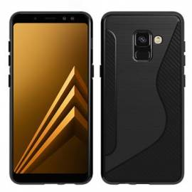 Coque Silicone S Noire Galaxy A8+ 2018