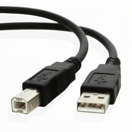 Cable d'imprimante noir USB-B 1m00