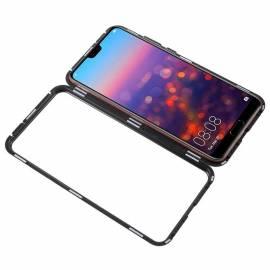 Coque magnétique Noire Huawei P20 Lite