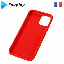 Coque soft touch Rouge A41