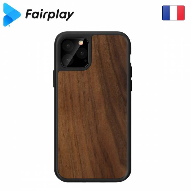 Coque iPhone 11 en Noyer