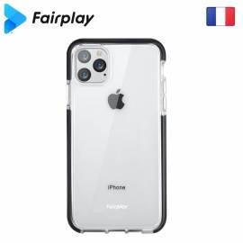 Coque renforcée transparente & Noire iPhone X/XS