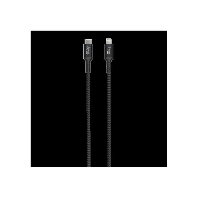 Cable tressé Noir USB-C vers lightning / MFI